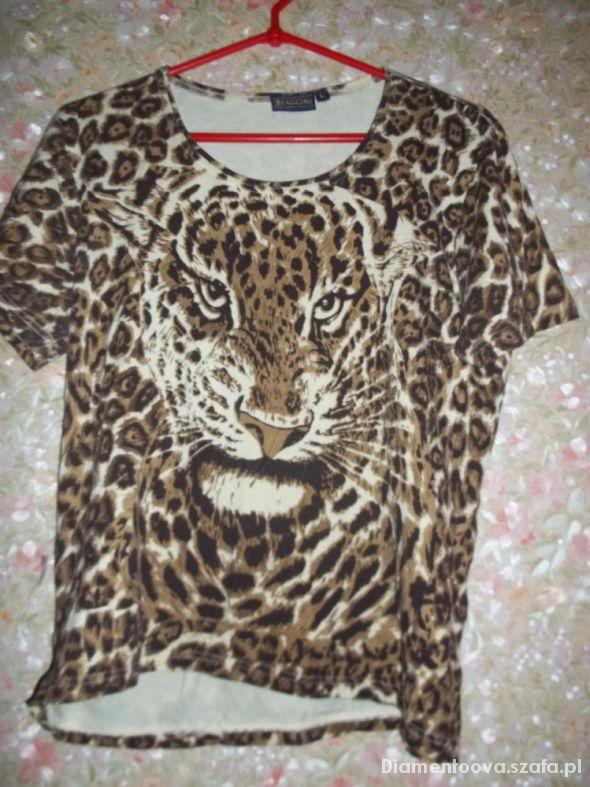 Bluzki Bluzka Oversize Tygrys