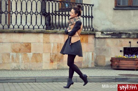 Eleganckie Pikowana spódnica
