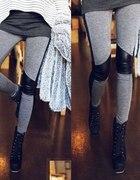 Legginsy leginsy spodnie rurki skórzane latex