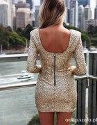 Cekinowa sukienka Złota S