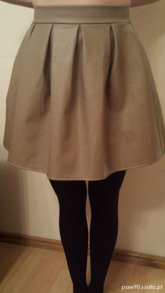 Spódnice Piękna spódnica skórzana rozkloszowana
