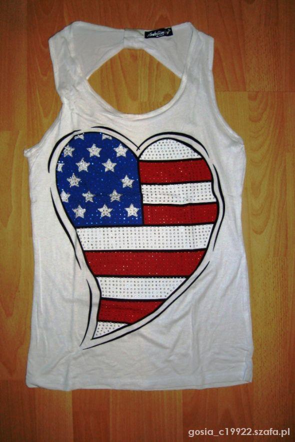 Bluzki Bluzka z flagą amerykańską