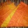 apaszka szal pomarańczowa cieniowana