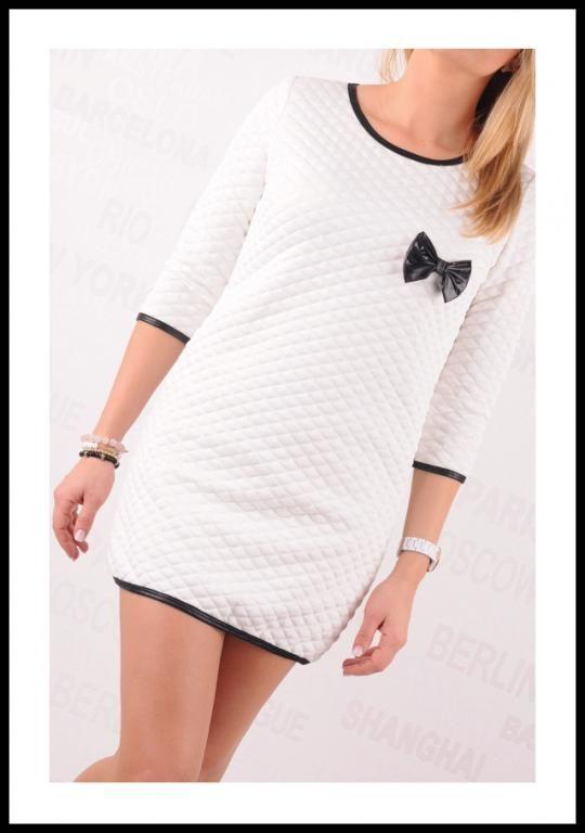 Ubrania Pikowana sukienka tunika bluzka