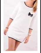 Pikowana sukienka tunika bluzka