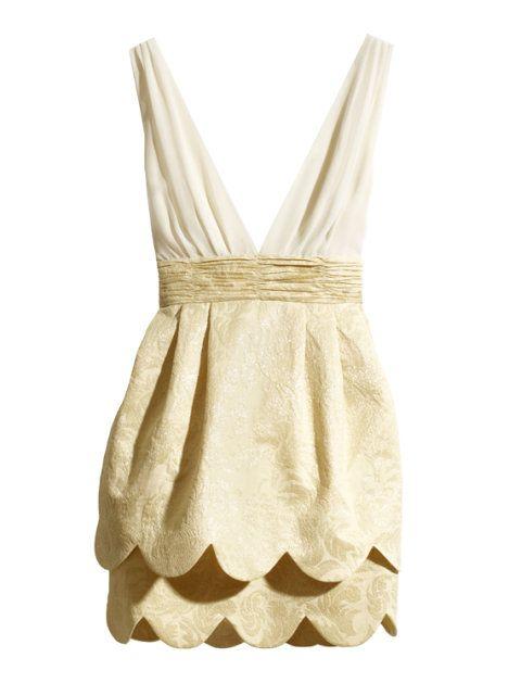 sukienka złota H&M CONSCIOUS COLLECTION 36 S