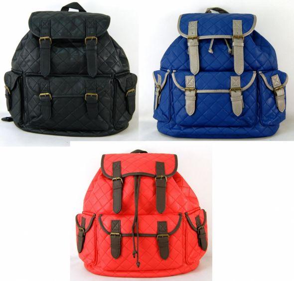 Plecak pikowany Vintage blogerski 3 kolory