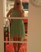 koronkowa sukienka w kolorze mięty...