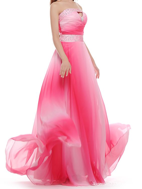 Tiulowa różowa sukienka cekiny długa tren ogon S