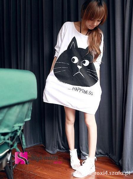 Ubrania Bluza z nadrukiem kota