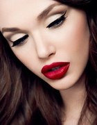 Beautiful makeup in the style of pin up