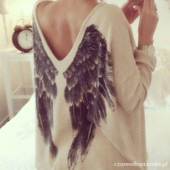 Ubrania sweter ze skrzydłami Kappahl