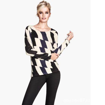 Sweter H&M geometryczne wzory