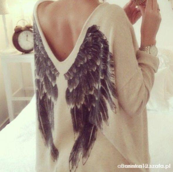 Sweter skrzydła...