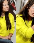ŻÓŁTY sweterek z angory H&M ZARA