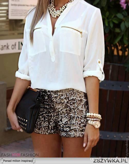 Eleganckie Koszula plus szorty