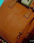 nowa ruda torebka z ćwiekami