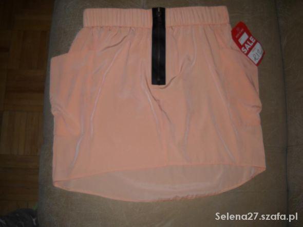 Spódnice Brzoskwiniowa asymetryczna spódniczka RI rozmiar L