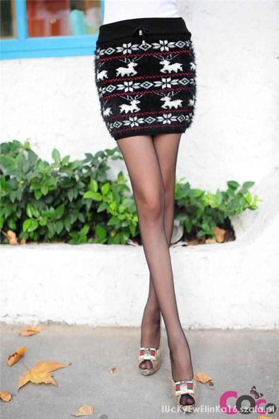 Poszukuję Spódnica Sweterkowa norweskie wzory