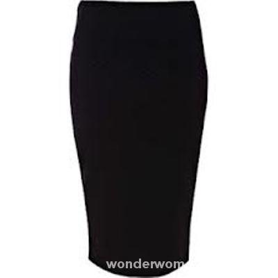 Spódnice river island czarna ołówkowa spódnica 34 XS UK6