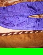 Fioletowe Ortalionowe Spodnie Narciarskie 38