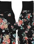 krótka floral z zipem