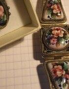 Zegarek Czajka z porcelana pierścionek z porcela