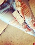 Spodnie z przetarciami