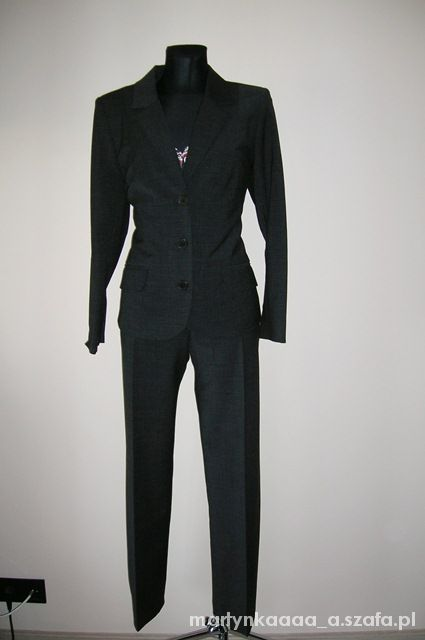 0d1310a39a NOWY kostium spodnie i marynarka BIALCON r44 w Garsonki i kostiumy ...