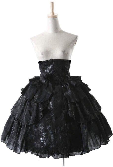 Spódnice Pyon Pyon Spódnica Gothic Lolita