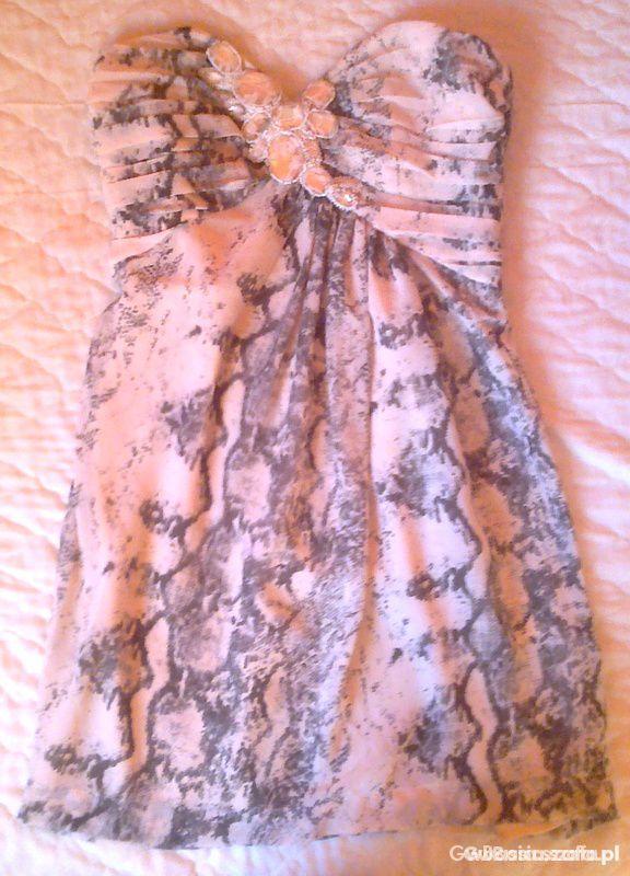 Suknie i sukienki SUKIENKA Z MOTYWEM WĘŻA