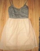 sukienka zwiewna góra z cienkiego jeansu r36
