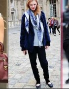 Chusta Louis Vuitton Niebieska Logowana...