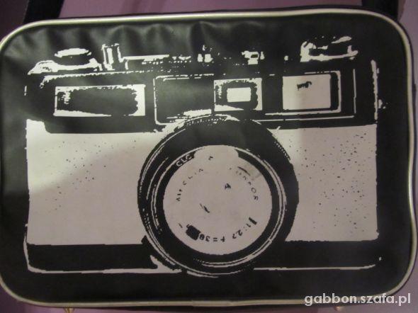 Torebki na co dzień torba torebka new yorker aparat fotograf czarna
