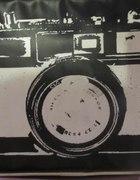 torba torebka new yorker aparat fotograf czarna