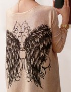 sweterek skrzydła ze skrzydłami