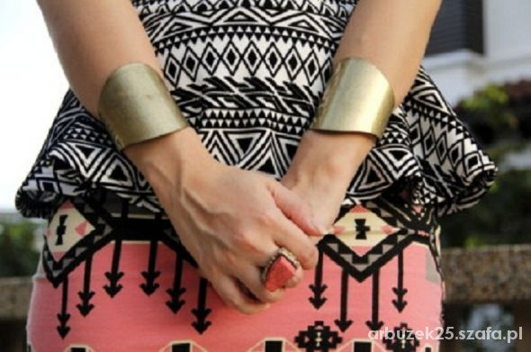 Mój styl spodniczka we wzorki azteckie
