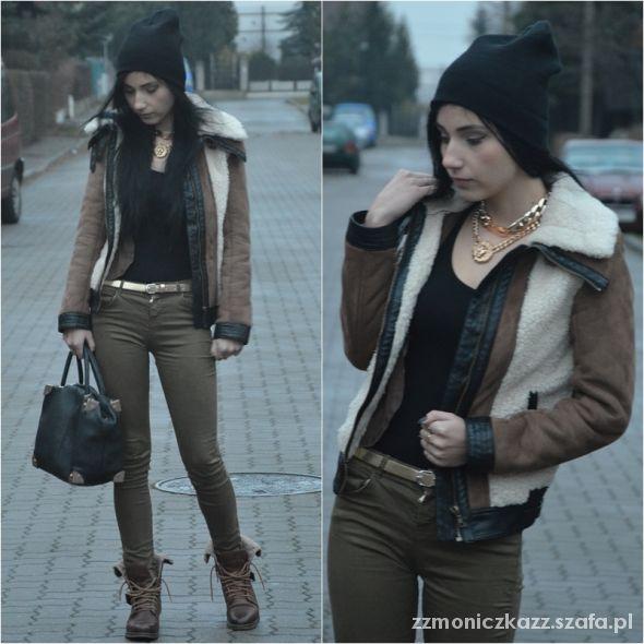 Blogerek sheepskin coat