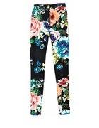 Kwieciste czarne spodnie floral H&M