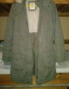 kurtka zimowa khaki H&M 34 XS