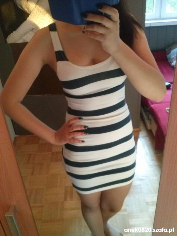sukienka w paski HM