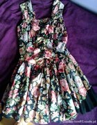 Sukienka kwiaty Vintage Retro