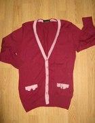 śliczny sweter kokardki L