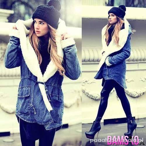 Blogerek jeansowa parka