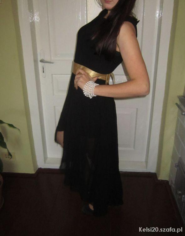 Wieczorowe Czarna wieczorowa suknia