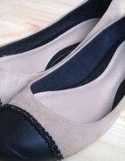 balerinki Stradivarius czerń nude 41...