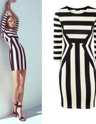 sukienka paski H&M frąckowiak kożuchowska XS 34...