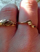 Złote pierścionki 585 i łancuszek