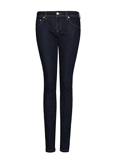 spodnie jeansy MANGO slim fit granatowe...