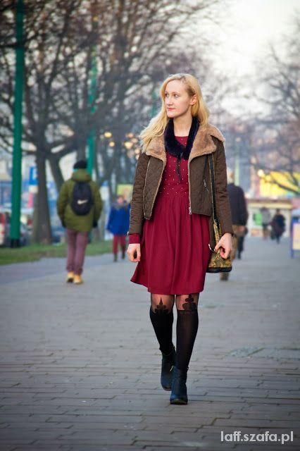 Mój styl Red wine dress